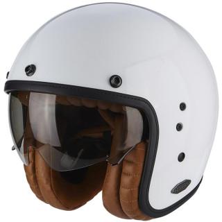 Scorpion Belfast Luxe Solid Jethelmet white shiny incl. sun visor S/M/L/XL/XXL L