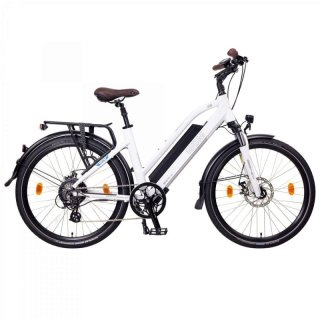 """NCM Milano 26""""-28"""" E-Bike Urban Trekkingbike 48V 13Ah 624Wh Akku Weiß 26"""""""