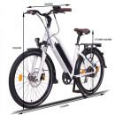 """NCM Milano 26""""-28"""" E-Bike Urban Trekkingbike 48V 16Ah 624Wh Akku Weiß 28"""""""