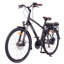 "NCM Hamburg 28"" E-Bike 36V 13Ah 468Wh Li-Ion cells battery black"