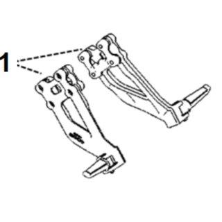 Rear footrests Super Soco TC