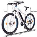 "NCM Moscow Plus 27,5""-29""  E-Bike Mountainbike 48V 13Ah 624Wh Akku White, Blue 29 Inch"