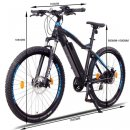 "NCM Moscow Plus 27,5""-29""  E-Bike Mountainbike 48V 16Ah 768Wh Akku Schwarz, Blau 29"""