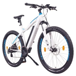 "NCM Moscow Plus 27,5""-29""  E-Bike Mountainbike 48V 16Ah 768Wh Akku Weiß. Blau 27,5"""