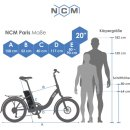 "NCM Paris Plus 20"" E-Faltrad E-Bike Klapprad dunkelblau"