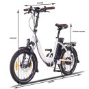 """NCM Paris Plus 20"""" E-Faltrad E-Bike Klapprad weiß"""