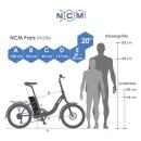 """NCM Paris 20"""" E-Bike E-Faltrad silber"""