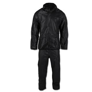 Regenanzug 2teilig Hose und Jacke schwarz L