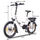 "NCM Paris MAX N8R 20"" E-Bike E-Folding Bike"