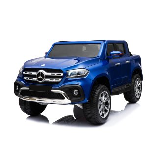 Lizenz Kinder Elektro Auto Mercedes X Klasse 2x 35W 12V 7Ah 2.4G RC Bluetooth blau