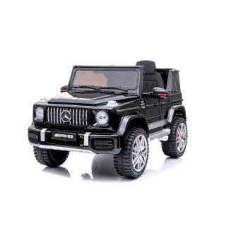 Lizenz Kinder Elektro Auto Mercedes G63 AMG lackiert 2x25W 12V 4.5 Ah 2.4G RC SUV schwarz