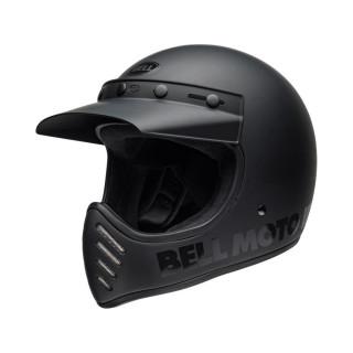 Bell Moto 3 Classic Vintage MX Helm Retro Matt / Gloss Blackout S- 55-56cm