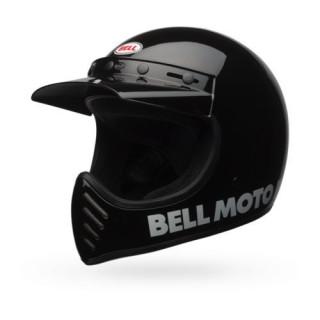 Bell Moto 3 Classic Vintage MX Helm Retro Schwarz L - 59-60cm