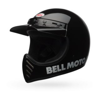 Bell Moto 3 Classic Vintage MX Helm Retro Schwarz XXL - 63-64cm