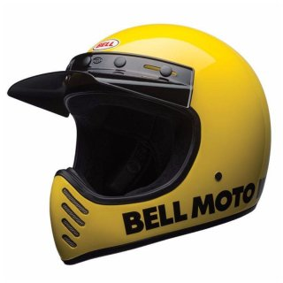 Bell Moto 3 Classic Vintage MX Helm Retro Classic Gelb XXL - 63-64cm
