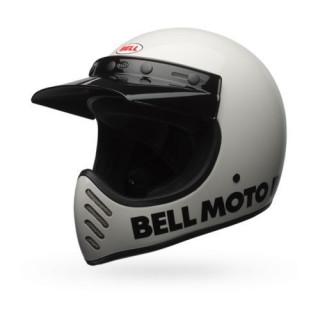 Bell Moto 3 Classic Vintage MX Helm Retro Weiß XXL - 63-64cm