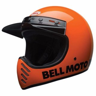 Bell Moto 3 Classic Vintage MX Helm Retro Neon Orange XL - 61-62cm