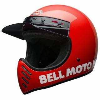 Bell Moto 3 Classic Vintage MX Helm Retro Rot XXL - 63-64cm