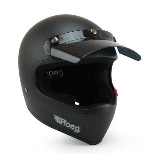 Roeg Peruna MX Helm Retro Vintage matt schwarz S - 55-56cm