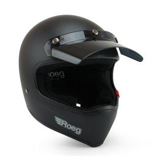 Roeg Peruna MX Helm Retro Vintage matt schwarz XXL - 63-64cm