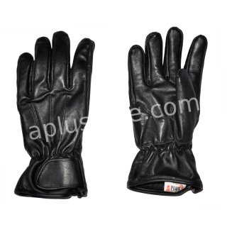 Aplus Leather Gloves Kopenhagen black