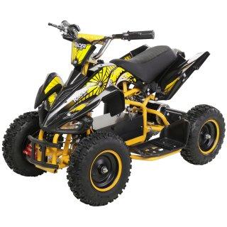 Miniquad Elektro Kinder Racer 1000 Watt schwarz/gelb