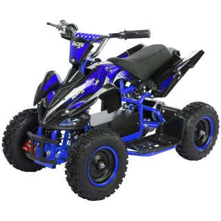 Miniquad Elektro Kinder Racer 1000 Watt schwarz/blau