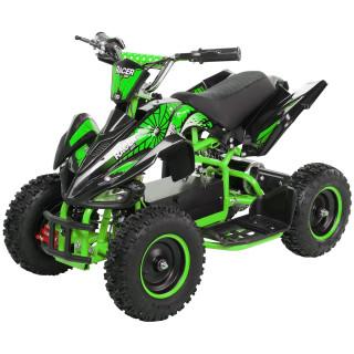 Miniquad Elektro Kinder Racer 1000 Watt schwarz/grün