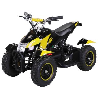 Mini Elektro Kinder ATV Cobra 800 Watt Pocket Quad schwarz/gelb