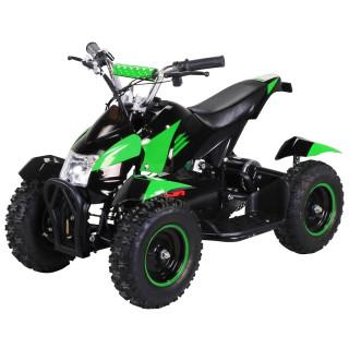 Mini Elektro Kinder ATV Cobra 800 Watt Pocket Quad schwarz/grün