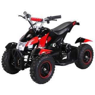 Mini Elektro Kinder ATV Cobra 800 Watt Pocket Quad schwarz/rot