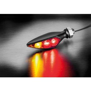 Kellermann Rhombus S DF Dark LED Blinker Bremslicht Rücklicht für hinten links