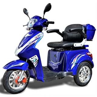 Senioren Roller ECO ENGEL 501 25 km/h blau Anhänger (rot)
