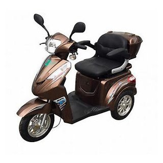Senioren Roller ECO ENGEL 501 25 km/h braun Gehhilfehalterung beidseitig