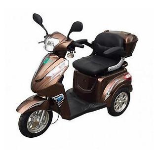 Senioren Roller ECO ENGEL 501 25 km/h braun Anhänger (weiß)