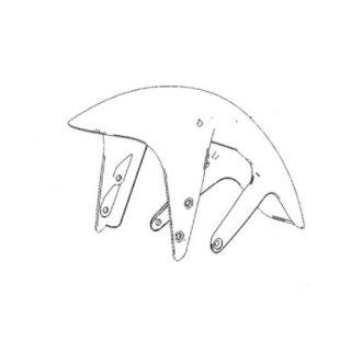 Super Soco TS Kotflügel vorne silber