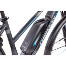 Chrisson 28 Zoll E-Bike City Damen E-ROUNDER mit 9 Gang Shimano Deore anthrazit-matt