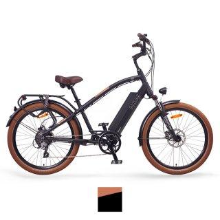 "NCM Miami 26"" Cruiser Retro Look E-Bike matt schwarz braun"
