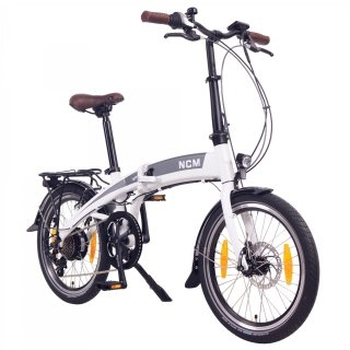 "NCM Lyon 20"" E-Folding bike E-Bike folding bike 36V 8Ah 288Wh Panasonic cells battery"