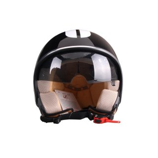 VITO Speical Jethelmet black/white glossy incl. sun visor S/M/L/XL