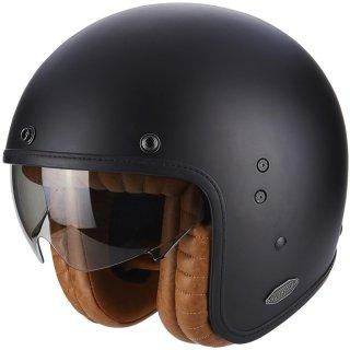 Scorpion Belfast Luxe Solid Jethelmet black matt incl. sun visor S