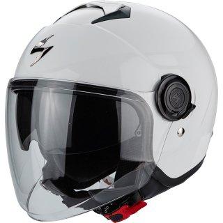 Scorpion Exo City Solid Jethelm weiß glänzend inkl. Sonnenvisier & Visier S/M/L/XL/XXL
