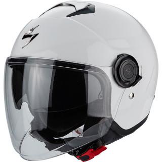 Scorpion Exo City Solid Jethelmet white glossy incl. sun visor & visor M