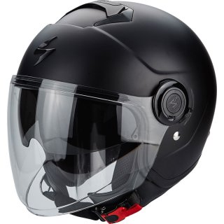 Scorpion Exo City Solid Jethelmet black matt incl. sun visor & visor S/M/L/XL/XXL