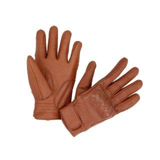 Sceed24 Motorradhandschuhe Lederhandschuhe Handschuhe Hot Classic braun Größe 10