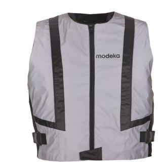 Modeka warning vest Doc Silver grey reflective motorcycle vest