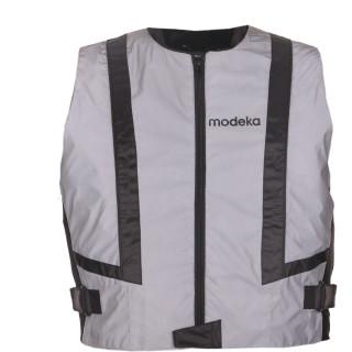Modeka Warnweste Doc Silver grau reflektierende Motorradweste XL