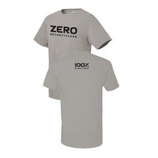 Zero Motorcycles Wordmark Logo T-Shirt HELLGRAU